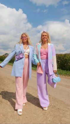 Cute Casual Outfits, Chic Outfits, Summer Outfits, Fashion Outfits, Colourful Outfits, Colorful Fashion, Pastel Fashion, Funky Fashion, Suit Fashion