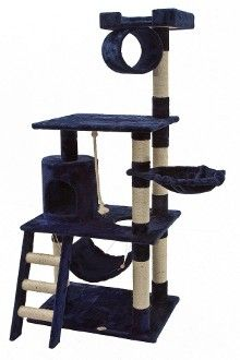 Blue Cat Tree For Large Cats By Gopetclub Pet Toys Cat Tree House Cat