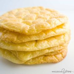These low carb, gluten-free cloud bread oopsie rolls are light, airy, buttery, and the perfect no carb bread for a sandwich. Only 4 ingredients!