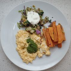 """""""Yesterday's breakfast, pesto eggs, kumara/sweet potato chips and some left over veggie mix from the steak and 5 veg meal last night @iquitsugar #realfood #naturalfood #wholefood #foodpics #foodporn #iquitsugar #lowsugar #diabeticfriendly #glutenfree #wheatfree #justeatrealfood #fuellingthisflankerlady #IQS8WP #IQSJERF #JERF #IQS #paleo #paleofood #paleophotos #paleopics #primal #primalfood #primalpics #paleodiet #primalphotos"""" Photo taken by @laurenswharekai on Instagram, pinned via the…"""
