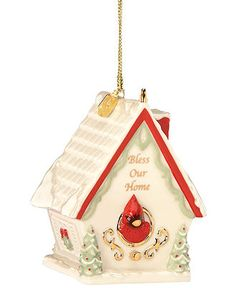 Lenox Christmas Ornament, 2012 Bless Our Home - All Christmas Ornaments - Holiday Lane - Macy's