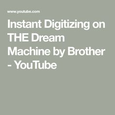 Watch Amy Smith as she takes a page from a coloring book and creates a beautiful design with THE Dream Machine by Brother. Brother Embroidery Machine, Embroidery Machines, Brother Dream Machine, Youtube, Youtubers, Youtube Movies