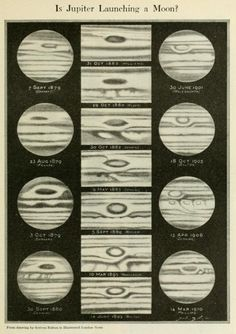 A magazine article floats the idea that the giant red spot of Jupiter could be a moon in the process of formation.Popular Science Monthly.November 1916.