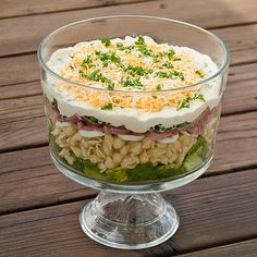 Hearty Eight Layer pasta Salad