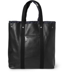 YVES SAINT LAURENT LINED LEATHER TOTE BAG