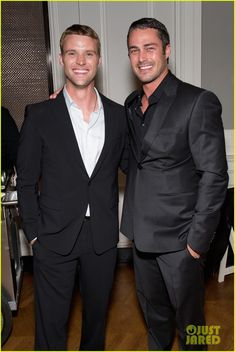 Taylor Kinney & Jesse Spencer: 'Chicago Fire' Premiere - handsome duo suited up