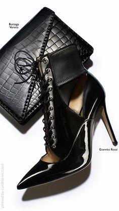 Croco Print   Gianvito Rossi and Bottega Veneta's slick, shiny accessories   cynthia reccord   #Impo