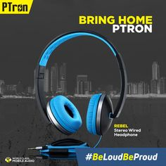 36da9dd8e30 Add a little more sunshine to life with PTron Rebel stereo headphones. Add  life.