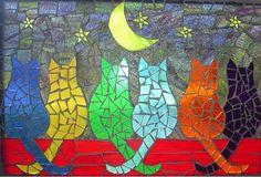 Изображения кошек, сделанные в технике мозаики: 19 кропотливых работ - Ярмарка Мастеров - ручная работа, handmade