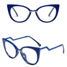 Armação óculos olhar de gatinho gata estilosa azul 0510258290