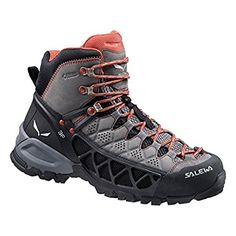 Salewa Womens Alp Flow Mid GTX Boots Charcoal  Indio 9  ETip Glove Bundle *** Check out the image by visiting the link.(This is an Amazon affiliate link and I receive a commission for the sales)