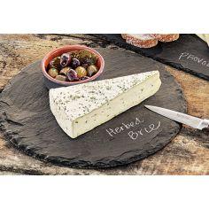 Round Chiseled Slate Cheese Board