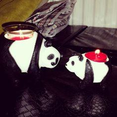 Partylite pandas totally adorable  Pandas