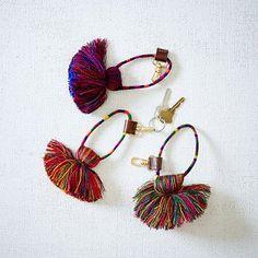 Tassel Key Ring + Bag Clip #westelm