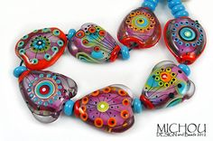 MICHOU- lampwork beads ♥ Fireworks 2013 ♥  SRA
