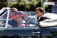 Diana Princess Of Wales And The Prince Charles Leave Royal Ascot In Car. 17 Jun 1992
