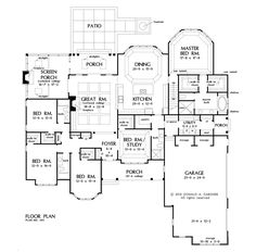 Plan of the Week over 2500 sq ft - The Harper 1411!  3222 sq ft, 5 bedrooms, 4 bathrooms. #WeDesignDreams
