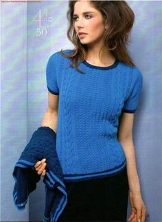 Жакет и пуловер с короткими рукавами