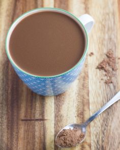 Caramel Hot Chocolate - healthy version which is dairy free, nut free and gluten free. Chocolate Heaven, Hot Chocolate, Nut Free, Dairy Free, Gluten Free, Mesquite Powder, Cacao Nibs, Cacao Powder, Smoothie Recipes