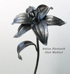 Iron gift lily Flower personalized Iron by toughandtwisted on Etsy