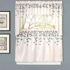 Flower Drops Tier Curtain - 58x36