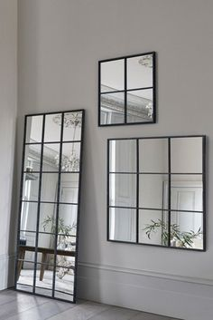 Buy Metal Window Small Mirror from the Next UK online shop Floor Standing Mirror, Mirror Floor, Diy Bedroom Decor, Living Room Decor, Home Decor, Ikea, Beautiful Interior Design, Condo Living, Room Setup