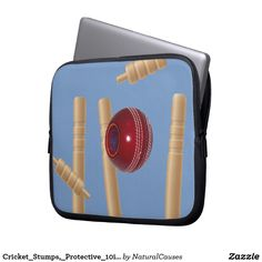 #cricket Stumps, Protective 10inch #laptopsleeve