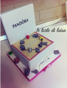 Pandora Cake Pandora Jewelry Box, Pandora Bag, Pandora Cakes, Fondant Cakes, Cupcake Cakes, Cupcakes, Beautiful Cakes, Amazing Cakes, Bag Cake