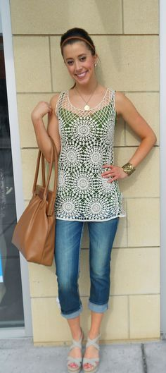 C Luce Crochet Long Tank!  $58.00