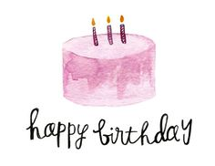 Happy Birthday Watercolor Cards by madebytae on Etsy