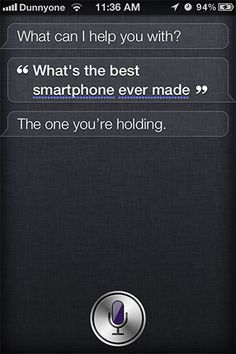 """Siri changes its mind on the 'best smartphone ever' - now it's not the Nokia Lumia 900... it's """"the one you're holding"""". Nokia isn't impressed"""