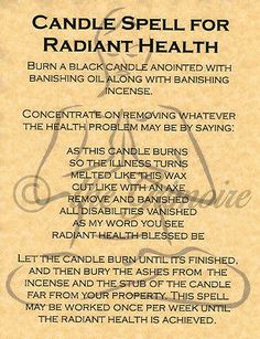Candle Spell for Radiant Health, Book of Shadows Spells Page, Witchcraft, Wicca Witchcraft Spell Books, Wiccan Spell Book, Witch Spell, Pagan Witch, Witches, Hoodoo Spells, Magick Spells, Candle Spells, Real Spells