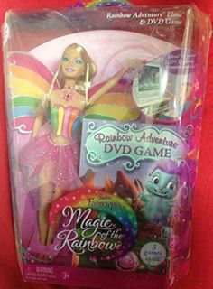 Barbie Fairytopia Magic of the Rainbow 12 Inch Doll - Rainbow Adventure Elina with DVD Game. Barbie Fairytopia Magic of the Rainbow 12 Inch Doll - Rainbow Adventure Elina with DVD Game.