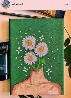 aesthetic painting aesthetic painting, To obtain you started, we've compiled these list DIY canvas painting ideas. Simple Canvas Paintings, Easy Canvas Art, Small Canvas Art, Easy Canvas Painting, Mini Canvas Art, Cute Paintings, Diy Canvas, Canvas Ideas, Painting Art