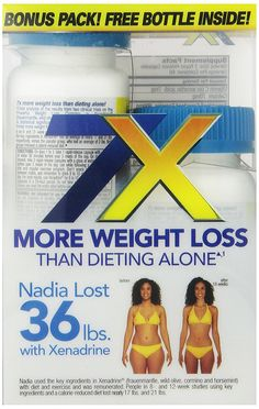 Xenadrine Two Bottle Bonus Pack Weight-Loss-Supplement, 120 Count * Startling review available here  : Appetite Control Suppressants
