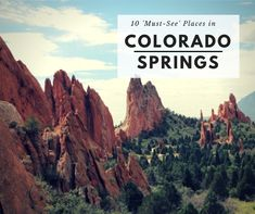 Make sure that Colorado Springs is part of you next visit!  Great staycation for locals, wonderful place for a summer family vacation!