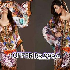 #abyluv #shopping  Unstitched Dress Material Top - Pure Cambric Bottom - Semi Lawn Dupatta - Printed Chiffon
