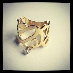 Anel Ouro amarelo e Ouro branco e Brilhante. www.gabrielaaiex.com.br