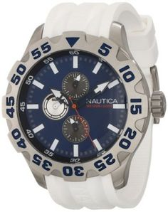 Relógio Nautica Men's N15567G BFD 100 Multifunction Blue Dial Watch #Relogio #Nautica