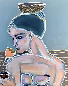 Bird Prints, Framed Prints, Queen Of Heaven, Mixed Media Painting, Face Art, Figurative Art, Custom Framing, Tulips, Instagram