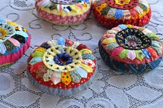 Colorful Quilted Pin Cushion. $20.00, via Etsy.