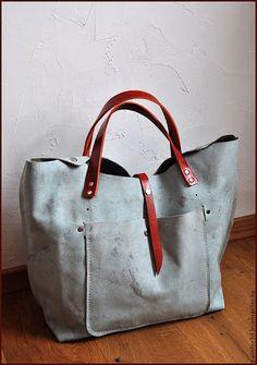 Большая Сумка №N-цать 8) - бледно-голубой,сумка ручной работы,дизайнерская сумка
