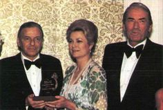 Princess Grace with her long-time friends Frank Sinatra and Gregory Peck (1980)