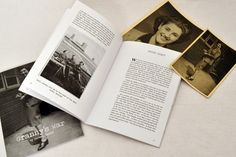 Granny's War layout for a personal book #layout #bookdesign