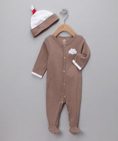 Take a look at this Chocolate 'Sweet Dreamzzz' Footie & Beanie on zulily today!