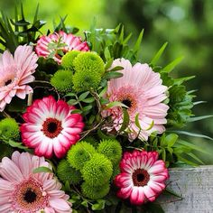 Nice summer bouquet from gerberas.