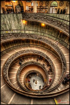 Stairs at The Vatican City Museum, Rome, Italy Beautiful Architecture, Beautiful Buildings, Art And Architecture, Beautiful Places, Beautiful Pictures, The Places Youll Go, Places To See, Voyage Rome, City Museum