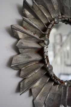 Antique Tin Sun Burst Mirror. $88.00, via Etsy.
