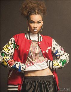 Over-sized bomber jacket   Hip-hop fashion of the 90's Honey of California ZINE