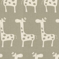 Taupe Giraffe Fabric by the Yard | Carousel Designs